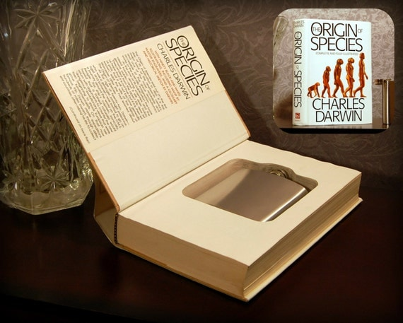 Hollow Book Safe & Flask (The Origin of Species)