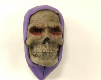 Horror Skull Clay Magnet