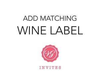 Add Matching Wine Label