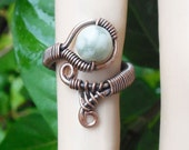 Wire Wrapped Ring - earthy ring - adjustable Ring -earthy jewelry - boho rings - tribal jewelry - bohemian ring - tribal rings - wire rings