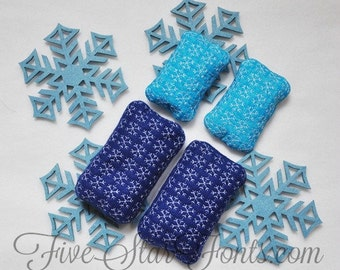 In the Hoop Snowflake Quilted Hand Warmers Machine Embroidery Designs