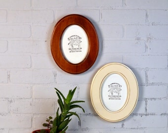 5x7 oval opening picture frame oval shaped outside in finish color of your choice solid poplar wood 5 x 7 photo frames round ellipse