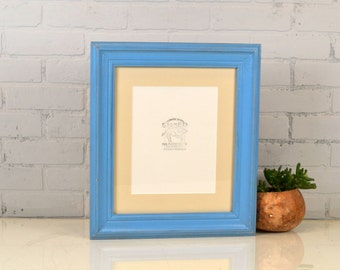 11.5x13.5 Picture Frame in Scully Style Vintage Blue with Mat for 8x10 Print - 8 x 10 Photo Frame - IN STOCK - Same Day Shipping