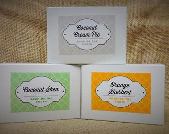 Shea Butter Soaps - Set of 3 - Pick Your Scent