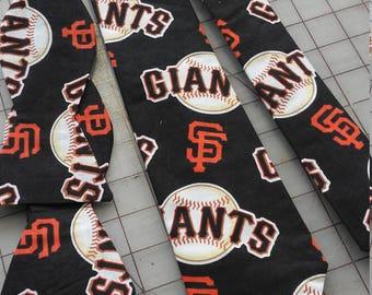 MLB San Francisco Giants Neckties in bow tie, skinny tie, and standard tie styles, kids or adult sizes