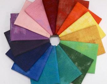 Grunge Basics - Fat Quarter Bundle by Basic Grey 15 Fabrics - Great Stash Builder!