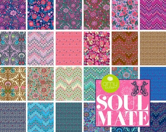 PREORDER: Soul Mate (Poplin) - Half Yard Bundle by Amy Butler - Full Collection - 24 prints