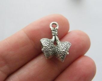 BULK 20 Acorn caps charms antique silver tone L198