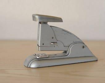 Vintage Swingline Speed Stapler 3 Mid Century Gray Retro Art Deco-Working-NICE!
