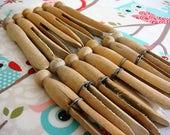 Wooden Clothes Pins Antique Clothes Pins Clothes Pin Lot