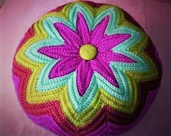 Crochet Pattern - Razzamatazz Pillow/Cushion