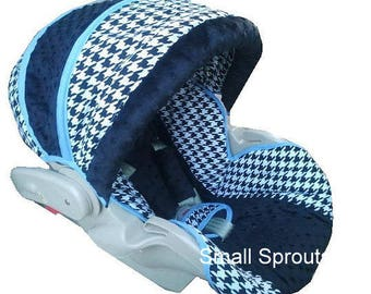 Britax B-Safe/B-Agile Black Houndstooth Infant Car Seat Cover and Stroller set for Erica