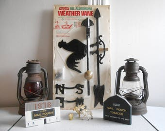 Vintage NOS Rare Ansan All Aluminum Rooster Weathervane 70's Era