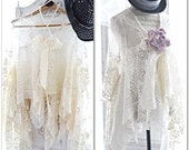 Stevie Nicks gypsy tunic, Free people, Spell n Gypsy creme Holiday wrap, Creme lace tunic top Romantic Boho, Gypsy soul, True rebel clothing