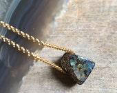 Opal Necklace, Australian Boulder Opal Pendant, Opal Jewelry, Dainty Jewelry, Boho Luxe Jewelry