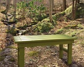 Cedar Garden Bench for Patio, Deck and Yard - available in 12 stain colors! - outdoor furniture handcrafted by Laughing Creek Prod