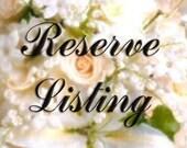 Reserved Listing for Denise Evon