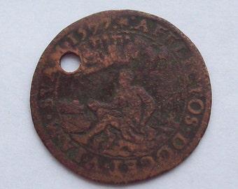 1577 Prophet Elijah and Daniel Religious Medal Renaissance Netherlands