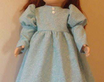 Long dress for American Girl size or 18 inch doll