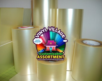 6.5inch x 300 feet Clear Transfer Application Tape for vinyl Ultra Clear, Medium tack,Economical Tape 100 yards