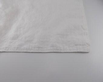 Handmade Linen Bath Mat / Bath Rug --- White