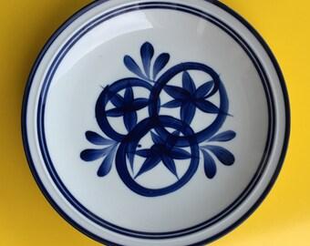 """Dansk 12"""" Blue and White Platter"""