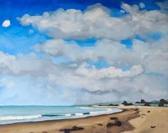Oil Painting Seascape - Original Landscape Painting by Sharon Schock 8x10