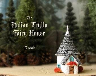 The Miniature Fairy Trullo House - N Scale Alberobello Traditional Cottage - Traditional Italian Medieval House - Miniature Fairy House