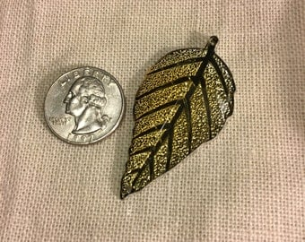 Gold Leaf Needle Minder-Cross Stitching-Cross Stitch-Embroidery-Hand Embroidery-Needlepoint