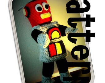 Crochet Pattern: Retro Robot Suit for American Girl and similar 18 inch dolls