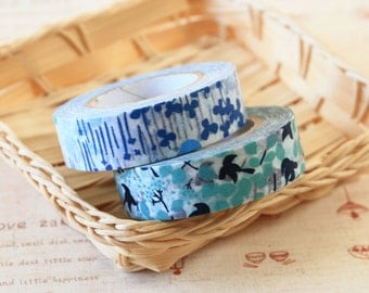 Bird and Little Garden Classiky Ten to Sen washi masking tape set C