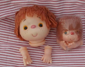 2 Sizes Mitzy Yarn Hair Doll Heads, Light Brown Hair 4 and 3 Inch, Craft Supply by Westrim