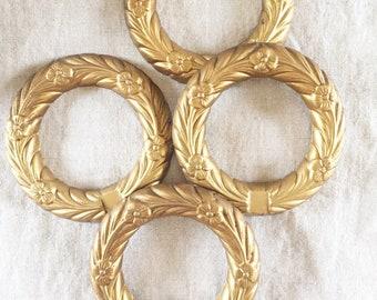 Gold Metal Wreaths (set of 4)