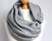 LINEN Infinity Scarf tube scarf with cuff, natural linen scarf, gift ideas, FASHION infinity SCARF, gift ideas for her, natural linen scarf