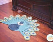 NEW PATTERN Pavo the Peacock Rug Nursery Mat Carpet PDF Crochet Pattern with Instant Download
