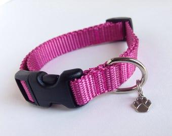 Small Simple Rose dog collar
