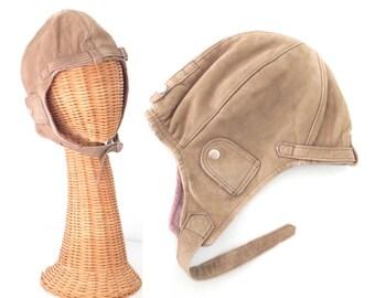 Vintage Flight Helmet * 1980s Aviator Hat * Aviator Hat * 80s Banana Republic