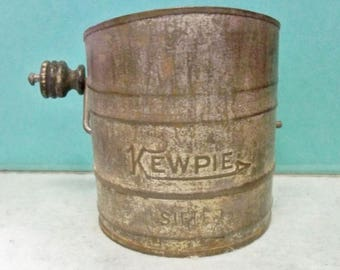 One Cup Kewpie Sifter ~ Embossed Kewpie ~ 3 1/2 Inches High ~ Kitchen Tested Condition