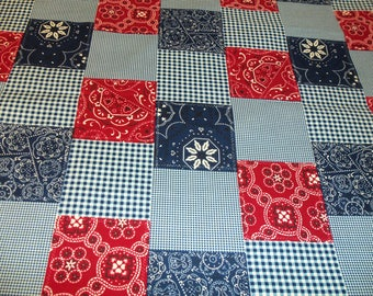 Michael Miller Red Bandana Patchwork fabric - 1 yard 16 inches