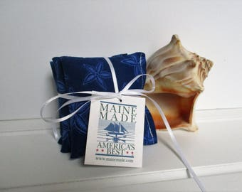 Blue Starfish Sachet Set of 3 in Balsam, Cedar or Lavender