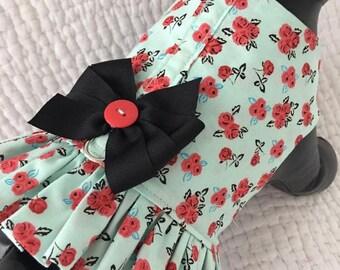 Shabby Chic Dog   Harness Vest for Girl Dog Custom Made