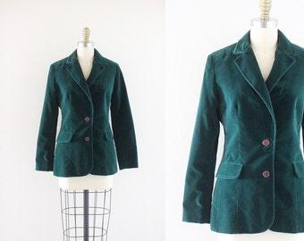 green velvet blazer jacket