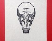 Dead Man's Shoes linocut print