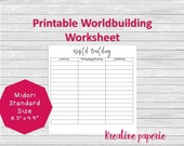 World-building Worksheet ...