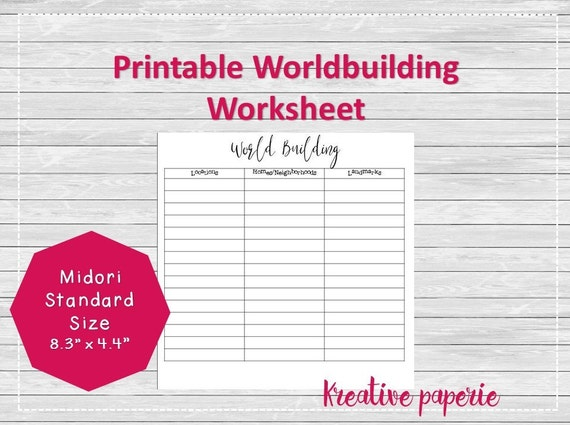 world building worksheet printable traveler 39 s notebook. Black Bedroom Furniture Sets. Home Design Ideas