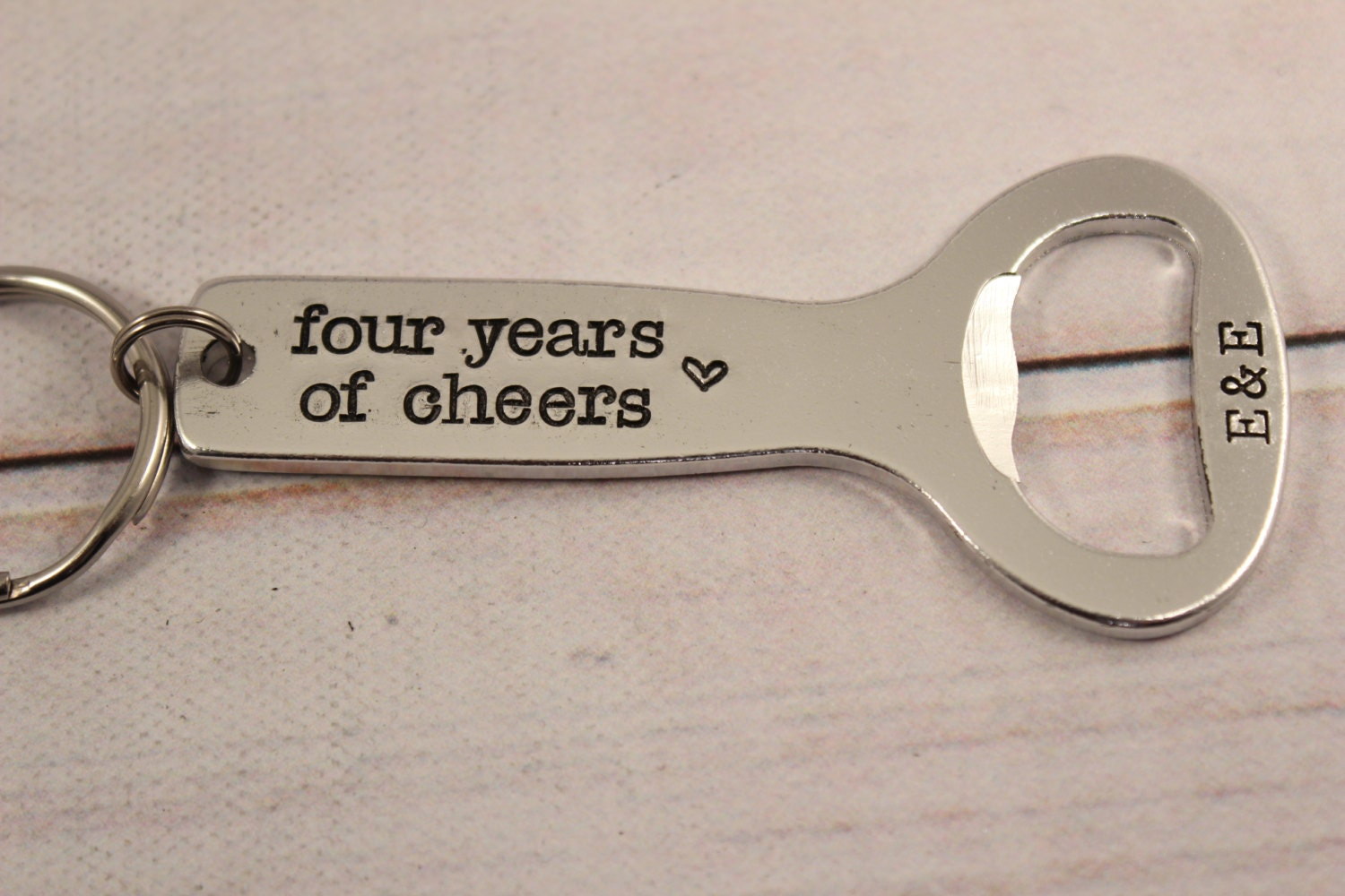 years of cheers personalized bottle opener keychain your. Black Bedroom Furniture Sets. Home Design Ideas