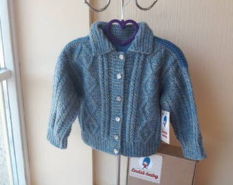 Knit baby sweater   Baby cardigan   Baby shower gift   Baby clothing   Knit baby cardigan  Hand knit boy sweater  Hand Knitted Baby Cardigan