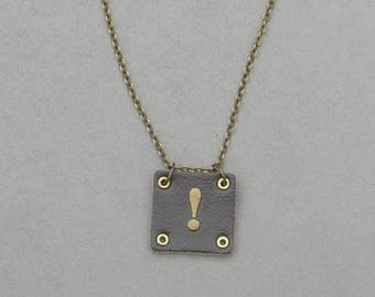 Square Leather ! Necklace