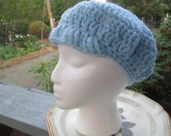Light Blue Baby Boy Newsboy Hat by SuzannesStitches, Boys Newsboy Hat, Brimmed Boys Hat, Visor Beanie Hat, Baby Boy Hat, Blue Boys Newsboy