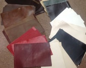 NP84SW.  Package of 84 Cowhide Leather Swatches
